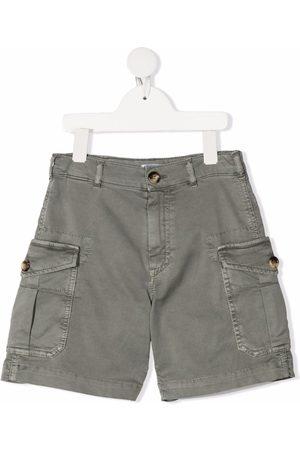 Brunello Cucinelli Boys Shorts - Multiple-pocket cargo shorts