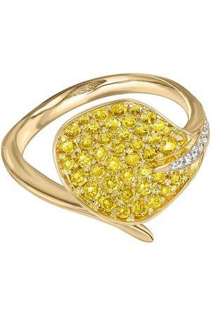 Pragnell 18kt yellow Wildflower Honeysuckle diamond ring