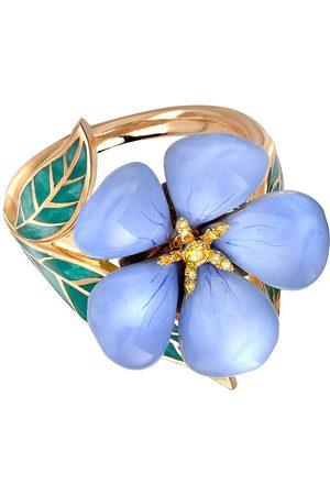 Pragnell 18kt yellow Wildflower blue flax yellow diamond ring