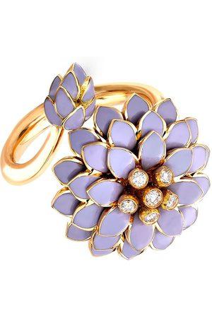 Pragnell 18kt yellow Wildflower Wild Cornflower diamond ring