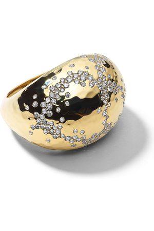 Ippolita 18kt yellow diamond Stardust hammered ring