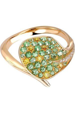 Pragnell 18kt yellow Wildflower Honeysuckle tsavorite and yellow diamond ring