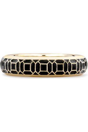 Pragnell 18kt yellow Revival black enamel ring