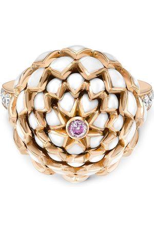 Pragnell 18kt yellow gold Wildflower white clover diamond ring