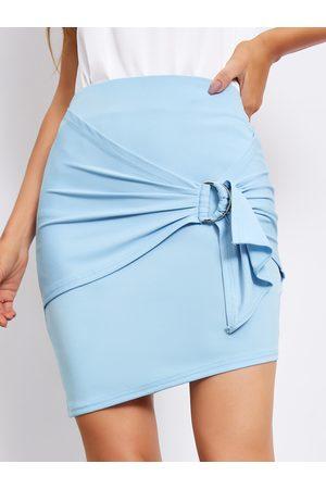 YOINS Tie-up design High Waist Mini Skirt