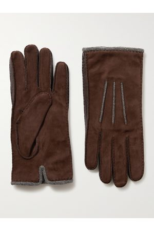 Loro Piana Baby Gloves - Damon Baby Cashmere-Lined Suede Gloves