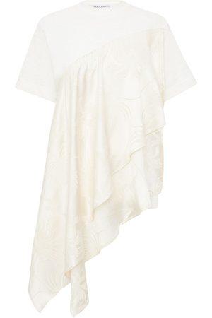 J.W.Anderson Women Short Sleeve - Floral pattern asymmetric T-shirt