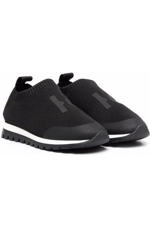 Kenzo Boys Sneakers - Monogram-print sock sneakers