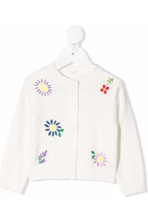 Stella McCartney Kids Baby Cardigans - Embroidered floral cardigan