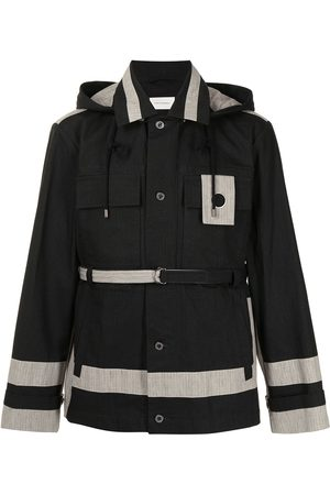 CRAIG GREEN Stripe-trimmed hooded jacket