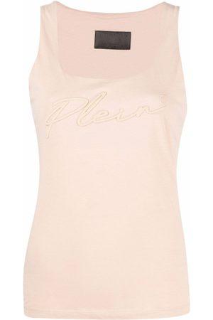 Philipp Plein Logo-embroidered vest top