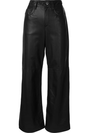 Brunello Cucinelli Faux leather wide leg trousers