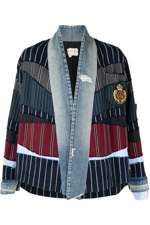 GREG LAUREN Patchwork long-sleeved jacket