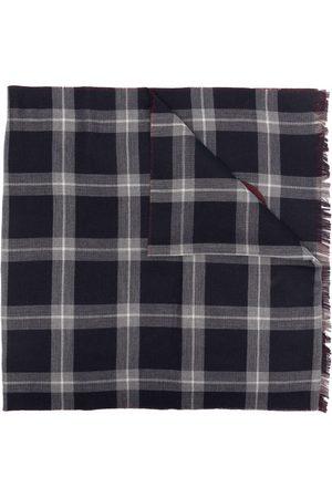 Salvatore Ferragamo Gancini-print checked scarf