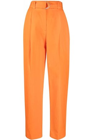 Msgm Belted straight-leg trousers