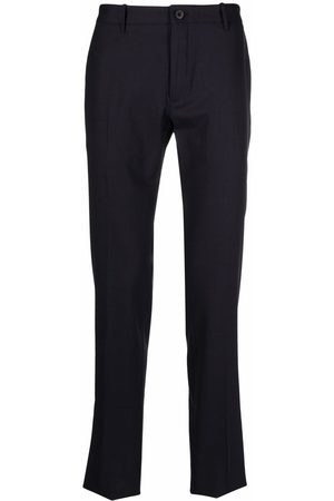 Incotex Men Formal Pants - Mid-rise straight-leg trousers