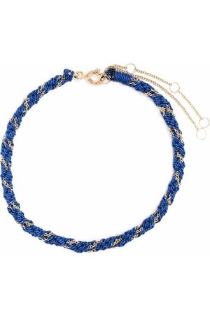 The Alkemistry 18kt yellow and silk Kumachi bracelet