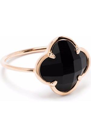 MORGANNE BELLO 18kt rose gold Victoria clover stone black onyx corset ring