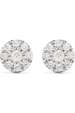 DJULA 18kt white gold diamond Target earrings