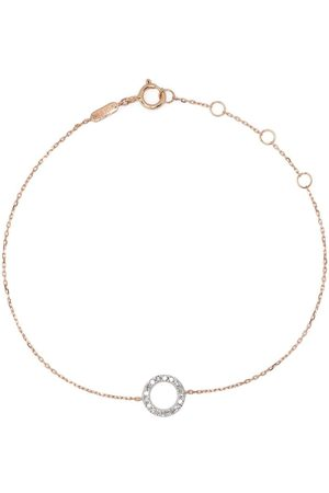 DJULA Women Bracelets - 18kt rose gold Circle diamond chain bracelet
