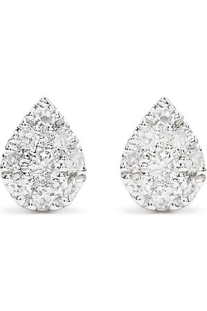 DJULA Men Earrings - 18kt white gold diamond Pear earrings