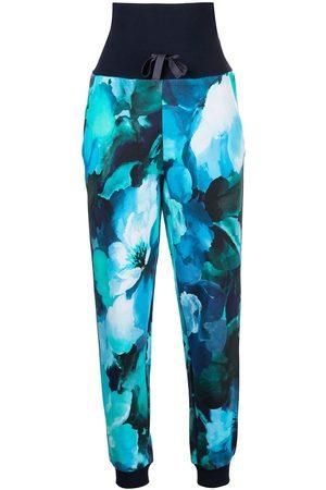 Marchesa Notte Women Pants - Tie-dye-print track pants