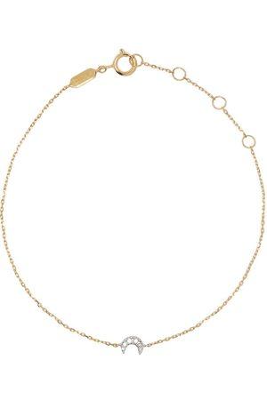 DJULA 18kt yellow Moon diamond chain bracelet