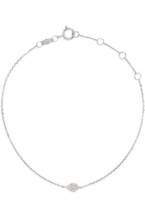 DJULA Women Bracelets - 18kt white gold diamond pear chain bracelet