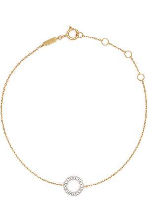 DJULA 18kt yellow Circle diamond chain bracelet
