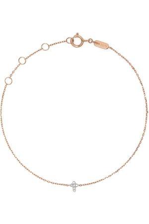 DJULA Women Bracelets - 18kt rose gold Cross diamond chain bracelet
