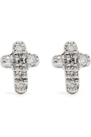 DJULA Men Earrings - 18kt yellow diamond Cross earrings