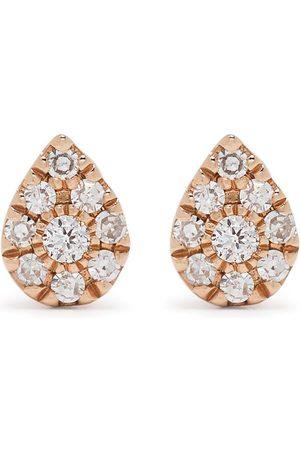 DJULA 18kt rose gold diamond Pear earrings