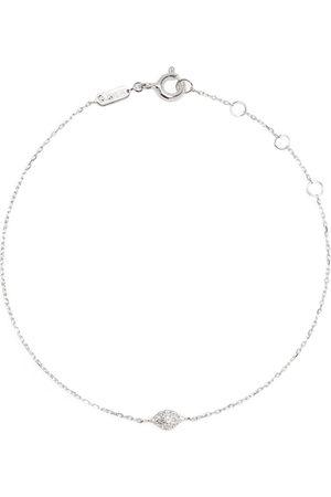 DJULA 18kt white gold Eye diamond chain bracelet