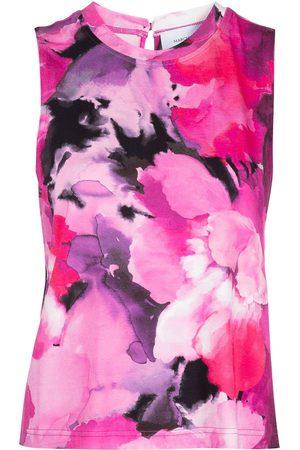 Marchesa Notte Tie-dye-print tank top