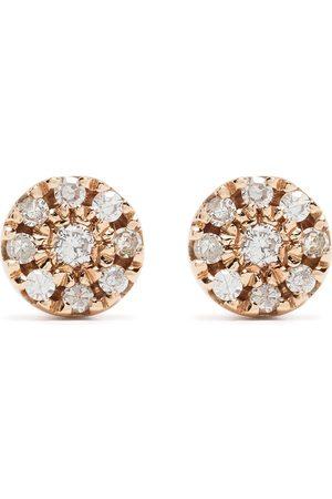 DJULA 18kt rose gold diamond Target earrings
