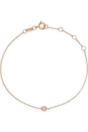 DJULA Women Bracelets - 18kt rose gold diamond pear chain bracelet