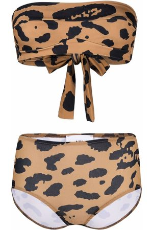 Atu Body Couture Women Bikinis - Animal-print strapless bikini set