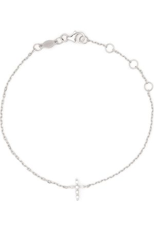 DJULA Women Bracelets - 18kt white gold Cross diamond chain bracelet