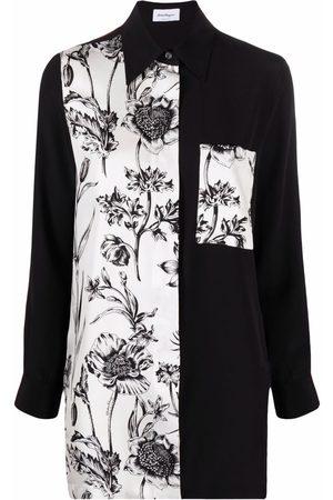 Salvatore Ferragamo Women Long Sleeve - Multi-panel long-sleeve shirt