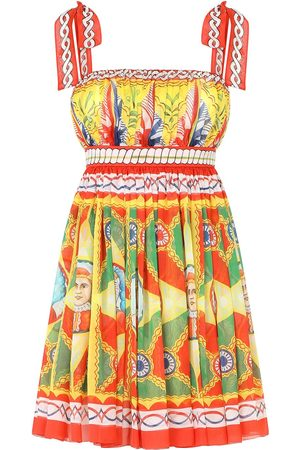 Dolce & Gabbana Women Printed Dresses - Graphic-print pleated dress