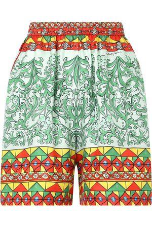 Dolce & Gabbana Women Shorts - High-waisted geometric-print shorts