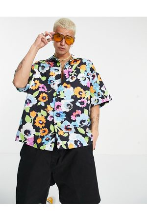 ASOS Boxy oversized revere shirt with all over bright floral