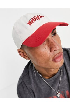 ASOS 5 panel cap with text in