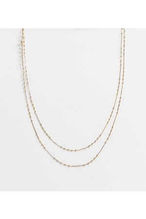 ASOS Pack of 2 14k plate dot dash chain necklace