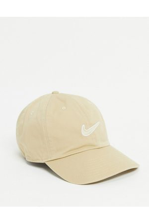 Nike H86 Swoosh washed cap in sand-Neutral