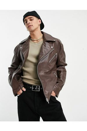 ASOS Faux leather biker jacket in
