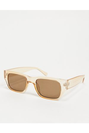 ASOS Square sunglasses in crystal with lens