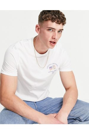 ASOS T-shirt in organic cotton with chest tennis print