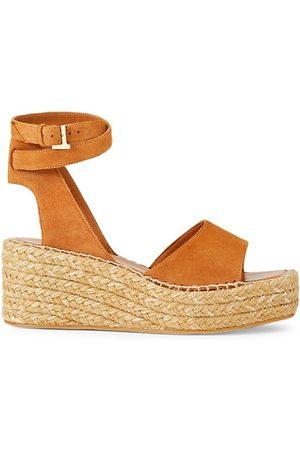 Lafayette 148 New York Women Wedged Sandals - Margot Suede Espadrille Platform Wedge Sandals