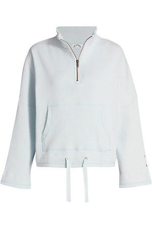 The Upside Women Sweatshirts - Tiena Ribbed Quarter-Zip Drawstring-Waist Sweatshirt